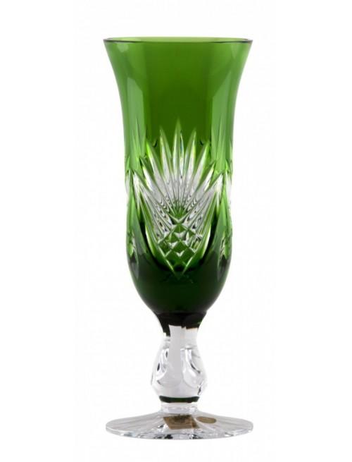 Krištáľová flauta Janette, farba zelená, objem 150 ml