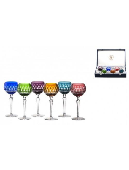 Krištáľový set pohár na víno Tomy 190, farba mix farieb, objem 190 ml