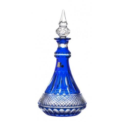 Krištáľová fľaša Tomy, farba modrá, objem 1300 ml