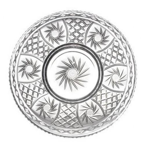 Krištáľový tanier Pinwheel, farba číry krištáľ, priemer 440 mm