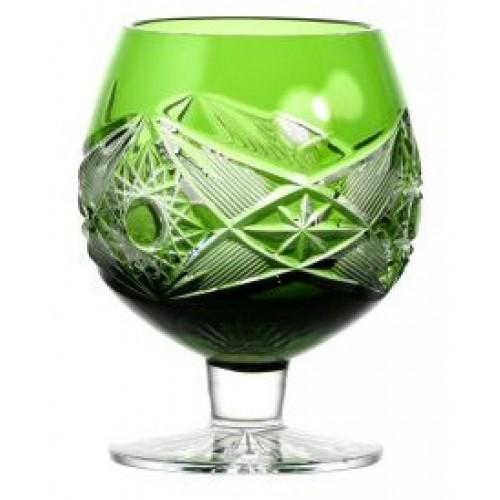 Krištáľový pohár Brandy Nordika, farba zelená, objem 230 ml