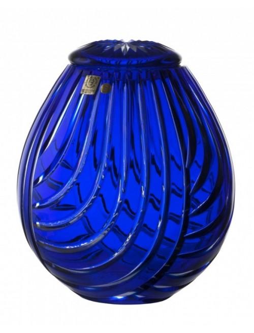 Krištáľová urna Linum, farba modrá, výška 230 mm