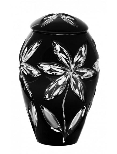 Krištáľová urna Linda, farba čierna, výška 290 mm