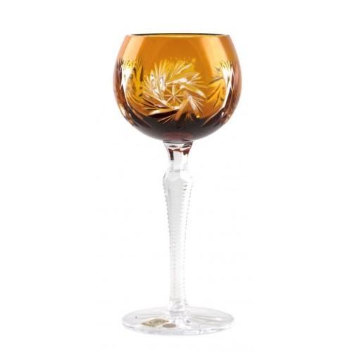 Krištáľový pohár na víno Pinwheel, farba jantárová, objem 190 ml
