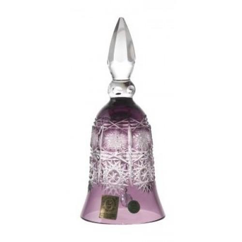 Krištáľový zvonček Paula, farba fialová, výška 155 mm