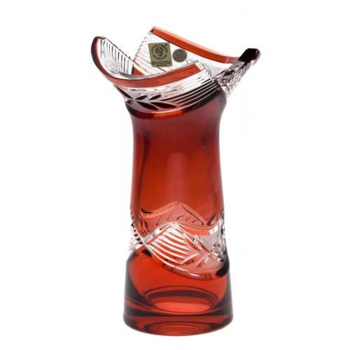 Krištáľová váza Laurel, farba rubínová, výška 185 mm