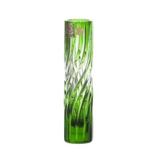 Krištáľová váza Zita, farba zelená, výška 155 mm