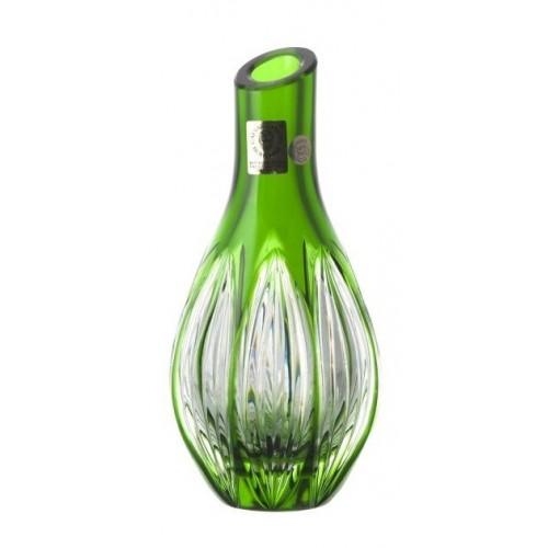 Krištáľová váza Ribwort, farba zelená, výška 150 mm