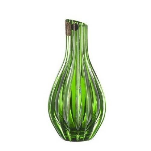 Krištáľová váza Sly, farba zelená, výška 150 mm