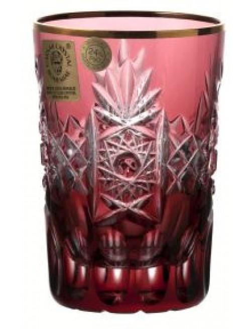 Krištáľový pohár, farba rubínová, objem 100 ml
