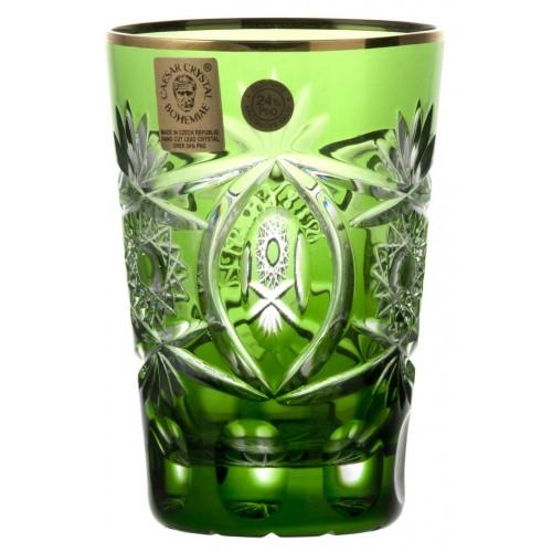 Krištáľový pohár, farba zelená, objem 145 ml