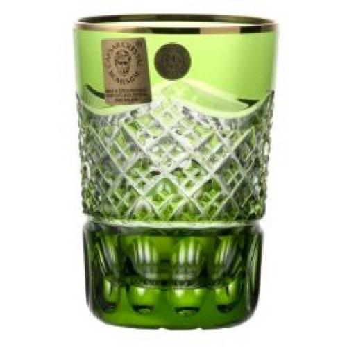 Krištáľový pohár, farba zelená, objem 100 ml
