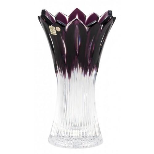 Krištáľová váza Flame, farba fialová, výška 255 mm