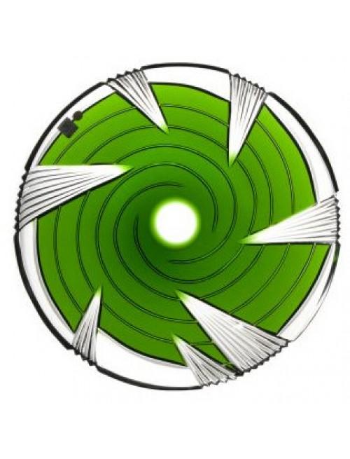Krištáľový tanier Whirl, farba zelená, priemer 300 mm