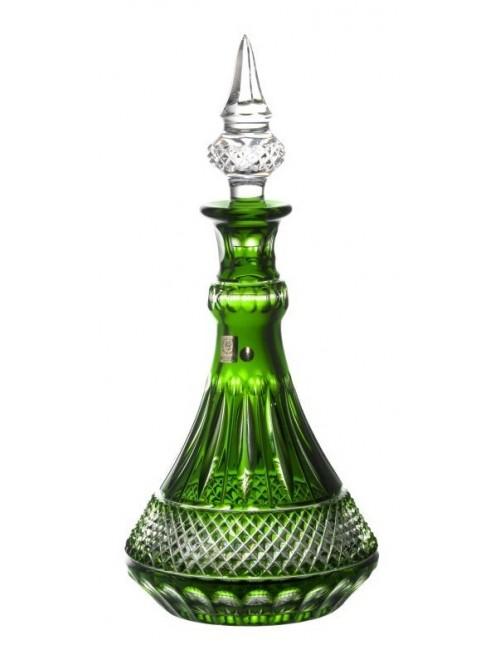 Krištáľová fľaša Tomy, farba zelená, objem 1300 ml