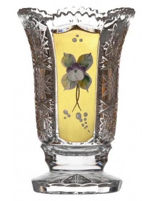 Krištáľová váza 500K Zlato, farba číry krištáľ, výška 126 mm