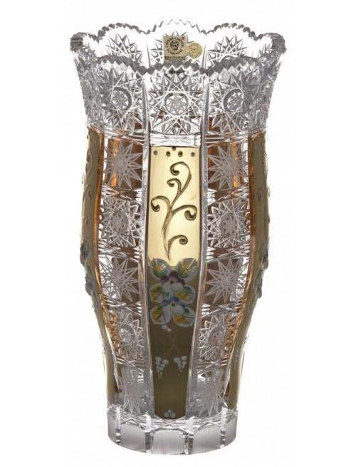 Krištáľová váza 500K Zlato III, farba číry krištáľ, výška 255 mm
