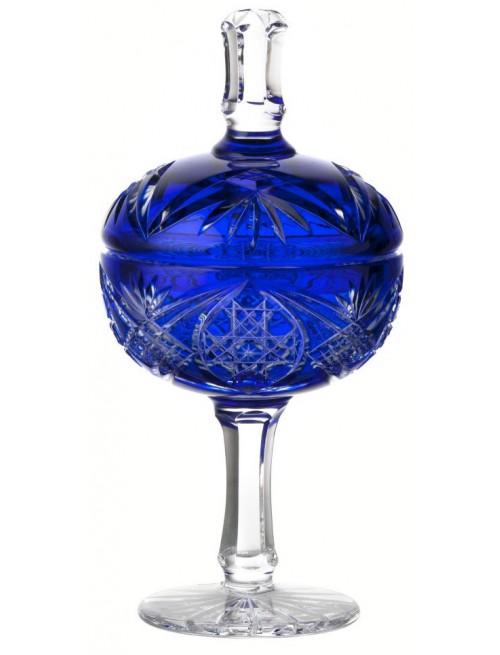 Krištáľový pokál Beata, farba modrá, výška 315 mm