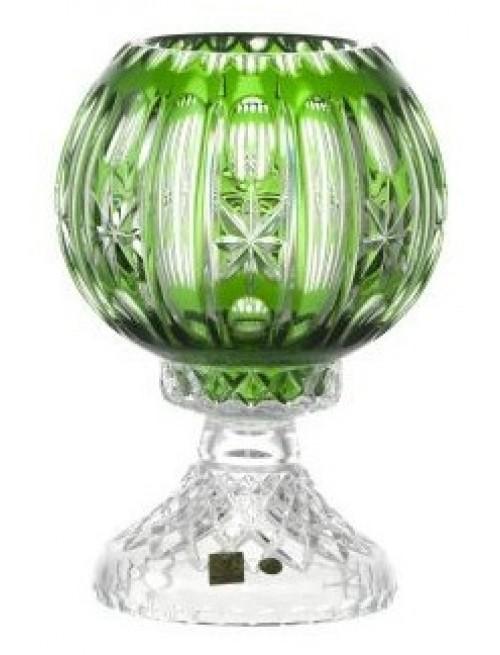 Krištáľová lampa Malaga, farba zelená, výška 225 mm