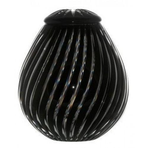 Krištáľová urna Zita, farba čierna, výška 230 mm