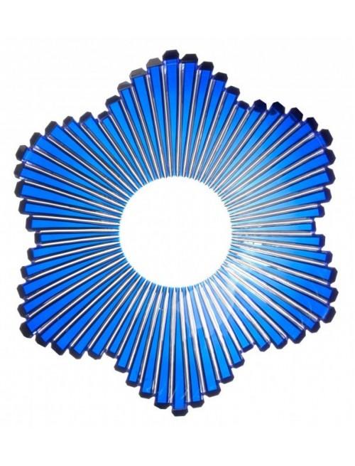 Krištáľová misa Mikado, farba modrá, priemer 335 mm