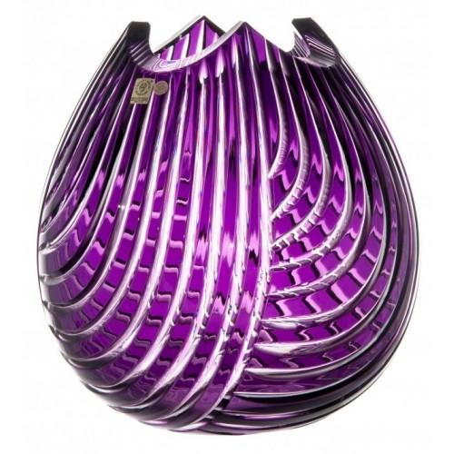 Krištáľová váza Linum, farba fialová, výška 280 mm