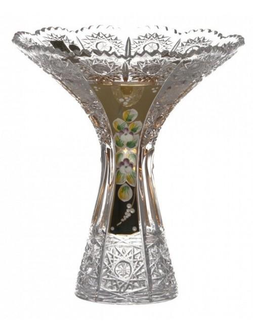 Krištáľová váza 500K Zlato IV, farba číry krištáľ, výška 205 mm