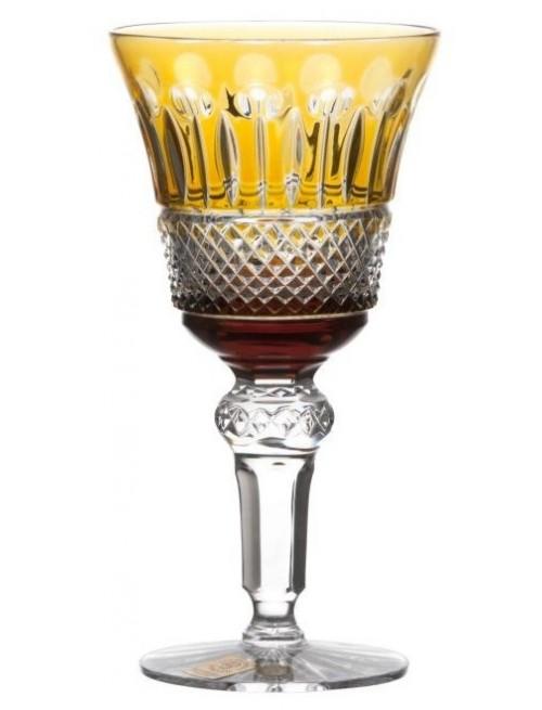 Krištáľový pohár na víno Tomy, farba jantárová, objem 180 ml