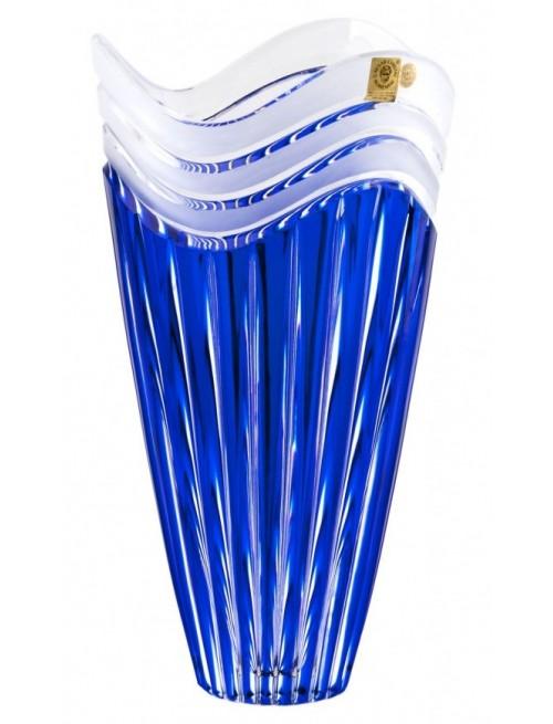 Krištáľová váza Dune, farba modrá, výška 180 mm