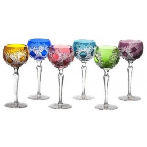 Krištáľový set pohár na víno Frost 190, farba mix farieb, objem 190 ml