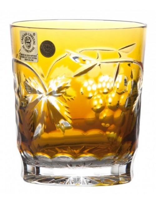 Krištáľový pohár Grapes, farba jantárová, objem 290 ml