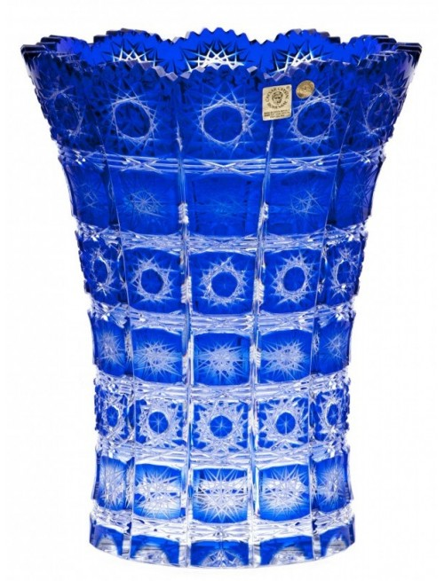 Krištáľová váza Paula II, farba modrá, výška 255 mm
