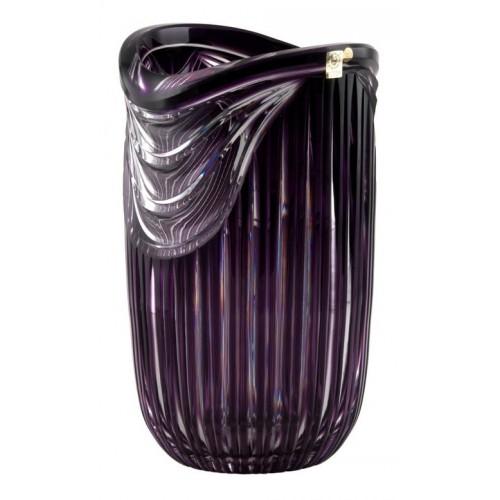 Krištáľová váza Harp, farba fialová, výška 300 mm