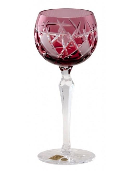 Krištáľový pohár na víno Mars, farba rubín, objem 190 ml