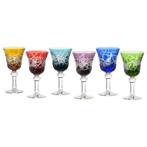 Krištáľový set pohár na víno Mars 180, farba mix farieb, objem 180 ml