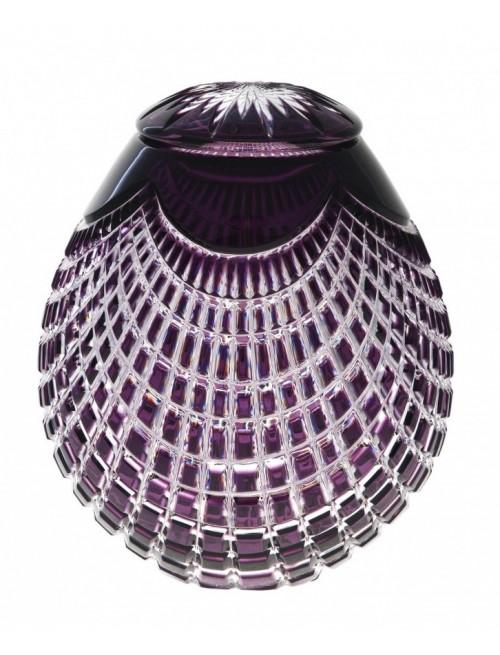 Krištáľová urna Quadrus, farba fialová, výška 230 mm