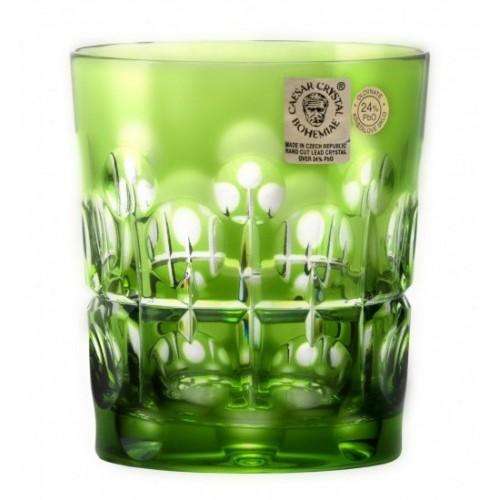 Krištáľový pohár Brisk, farba zelená, objem 290 ml