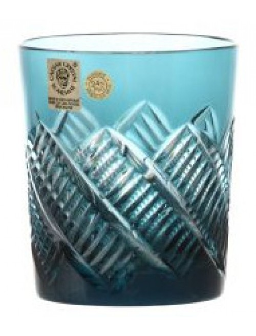 Krištáľový pohár Mia, farba azúrová, objem 290 ml