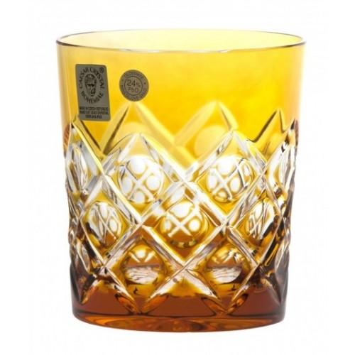 Krištáľový pohár Sultan, farba amber, objem 290 ml