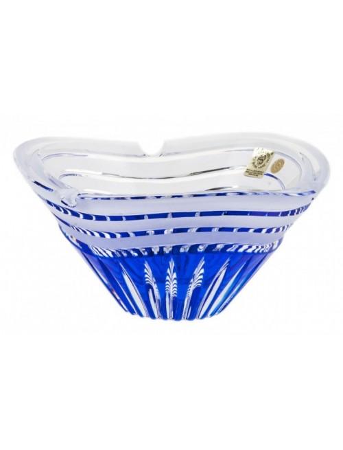 Krištáľový popolník Dune, farba modrá, priemer 180 mm