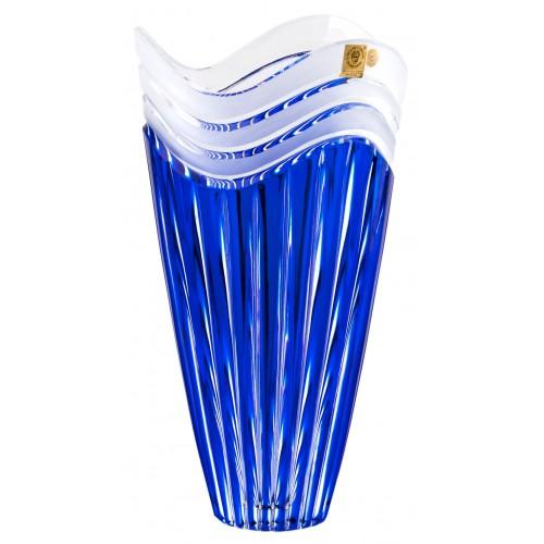 Krištáľová váza Dune, farba modrá, výška 270 mm