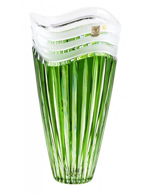 Krištáľová váza Dune, farba zelená, výška 270 mm