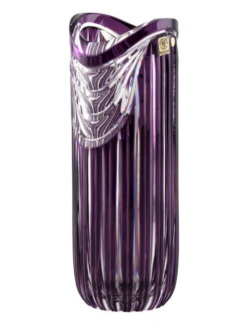 Krištáľová váza Harp, farba fialová, výška 320 mm