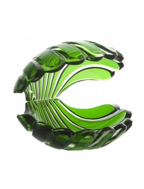 Krištáľová lastúra, farba zelená, výška 140 mm