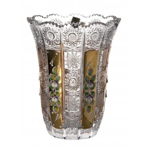 Krištáľová váza 500K Zlato VI, farba číry krištáľ, výška 205 mm