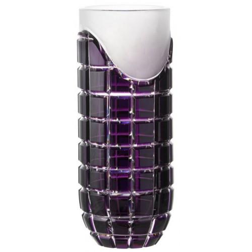 Krištáľová váza Neron, farba fialová, výška 300 mm