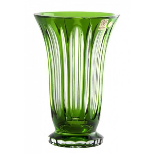 Krištáľová váza Visu, farba zelená, výška 205 mm