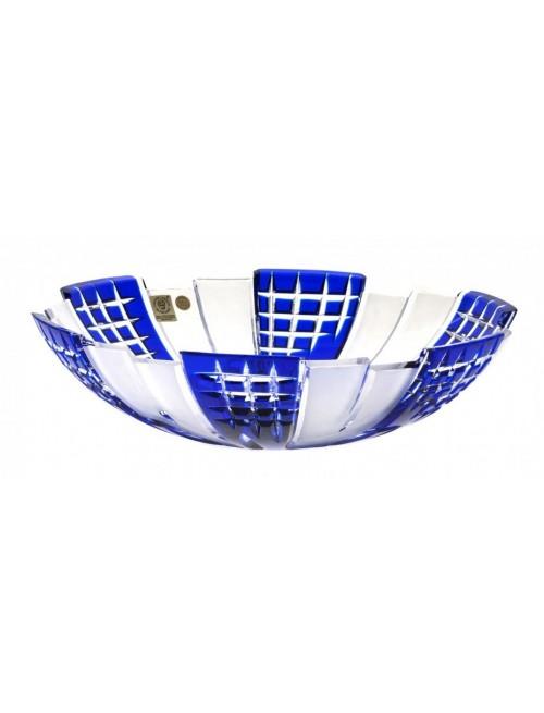 Krištáľová misa Metropolis, farba modrá, priemer 280 mm