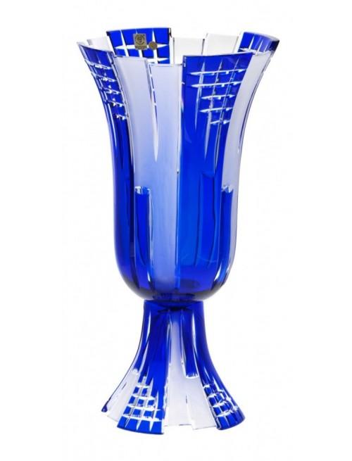 Krištáľová váza Metropolis, farba modrá, výška 390 mm