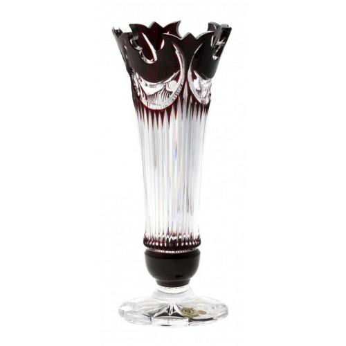 Krištáľová váza Diadem, farba rubín, výška 280 mm